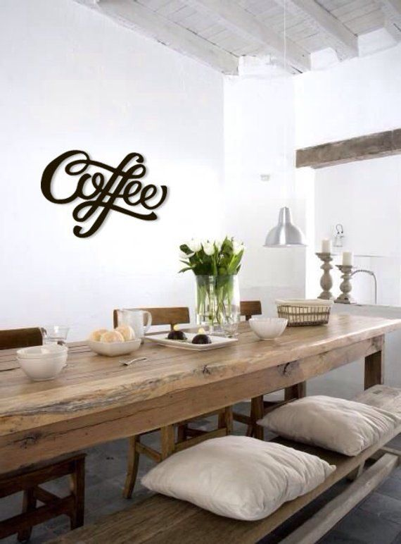 Coffee Metal Word Wall Art Home Decor Word Wall Hanging Coffee Metal ... a3ab8e8d808e
