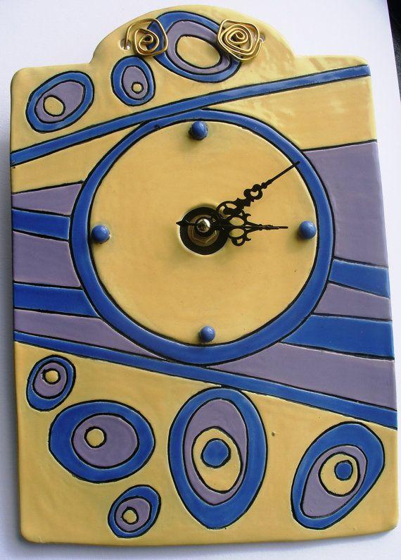 Beautiful ceramic wall clock   Alice in Wonderland ... by GUDAR, €56.00