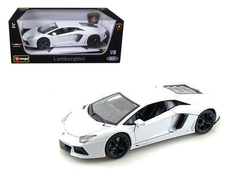 2012 Lamborghini Aventador LP700-4 White 1/18 Diecast Model Car by Bburago - Brand new 1:18 scale diecast model car of Lamborghini Aventador LP700-4 White die cast model car by Bburago. Brand new box. Rubber tires. Has steerable wheels. Detailed interior, exterior. Made of diecast with some plastic parts. Has opening doors and engine compartment. Dimensions approximately L-10, W-4, H-2.5 inches. Please note that manufacturer may change packing box at anytime. Product will stay exactly the…
