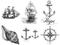 Vintage Nautical Tattoo on Pinterest | Nautical Tattoos Anchor ...
