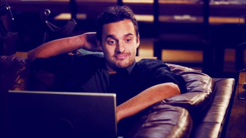 Jake Johnson has perfected the whole undressing bae with just my eyes thing. *brings out the church fan* *fans everyone* | 29 GIFs That Might Get You Pregnant