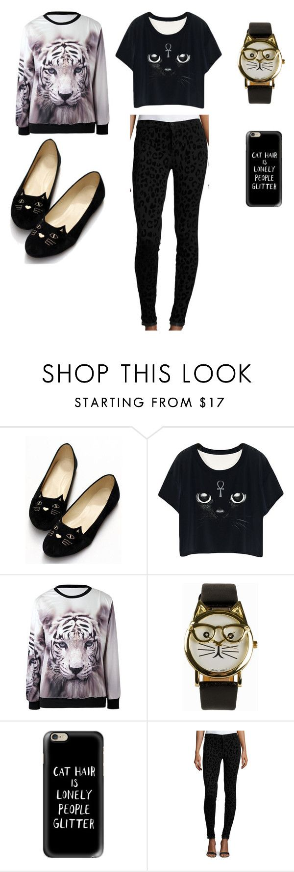 """""""CATS!!"""" by gracenickel on Polyvore featuring JFR, Casetify and J Brand"""