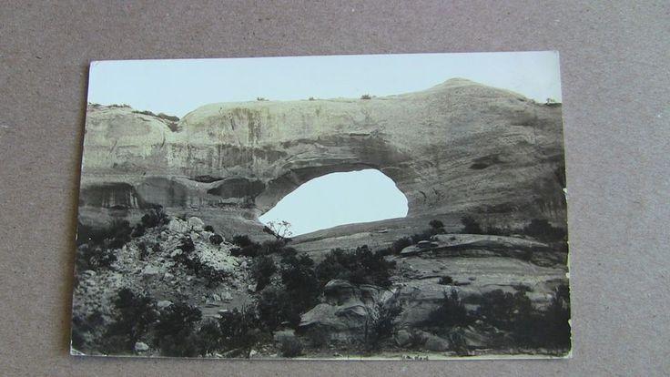 1937 RPPC Postcard--UTAH--Moab--Joe Wilson Arch US Highway 450 Harry Reed PC