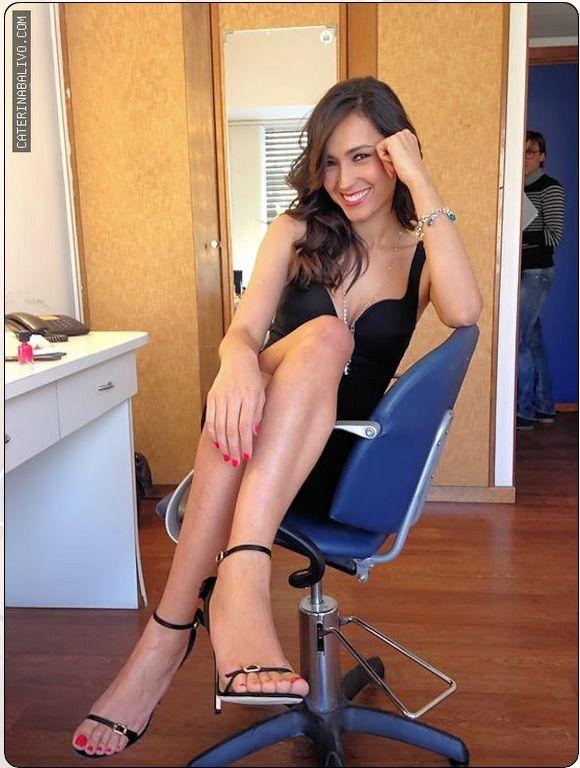 Caterina Balivo indossa i sandali Ballin per la sua intervista a Domenica In, il 20 Aprile 2014 #shoes #scarpe #caterinabalivo #domenicain #sandali