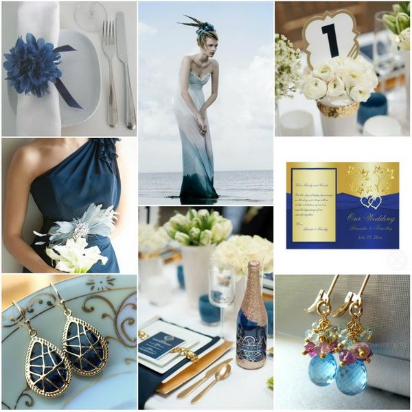 royal blue and gold weding colors for winter 2013