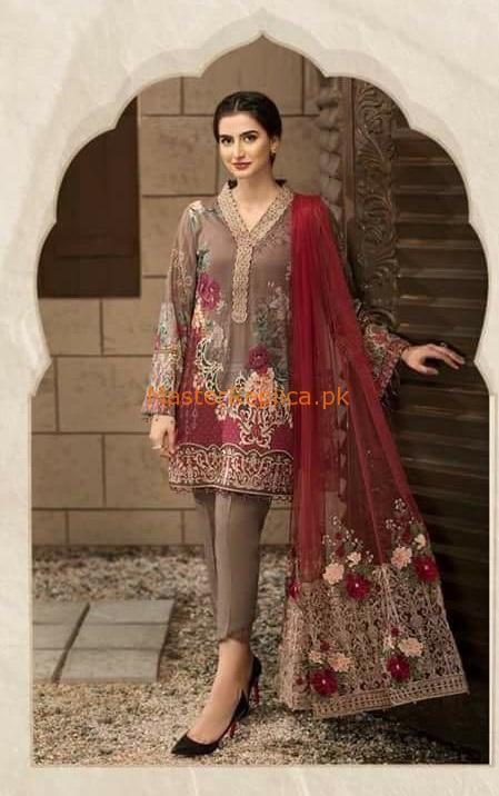 6cffbc6a3c JAZMINE Latest Embroidered Petal De Rose Chiffon Collection Replica in 2019    Dresses   Dresses, Pakistani dresses, Chiffon shirt