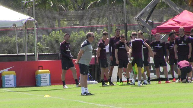 This is a video of the English National Team and their Manager Roy Hodgson practicing at Barry University in North Miami, Florida. There are attempts to simulate the environment in Brazil; To be continued.