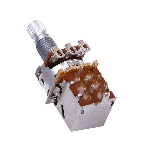 Replacement Potentiometer 250k push/pull for electric guitar upgrade, mods, luthier, kit builder.