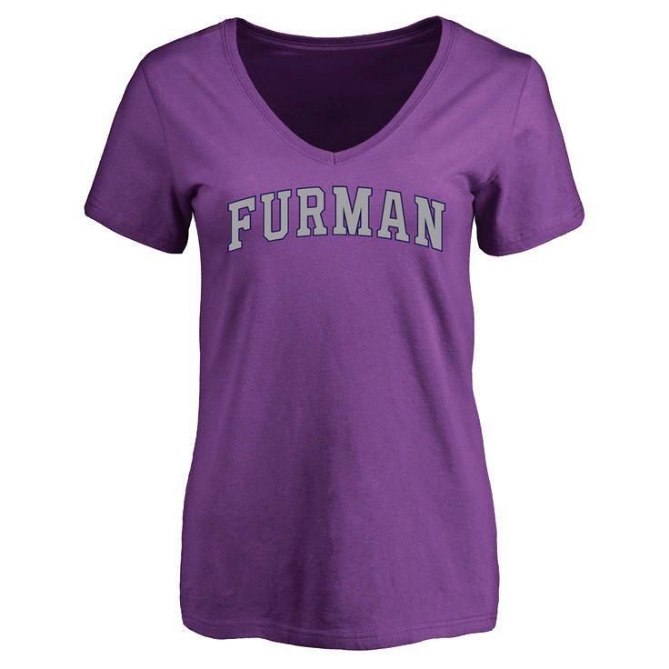 Furman Paladins Women's Everyday Slim Fit T-Shirt - Purple - $21.99