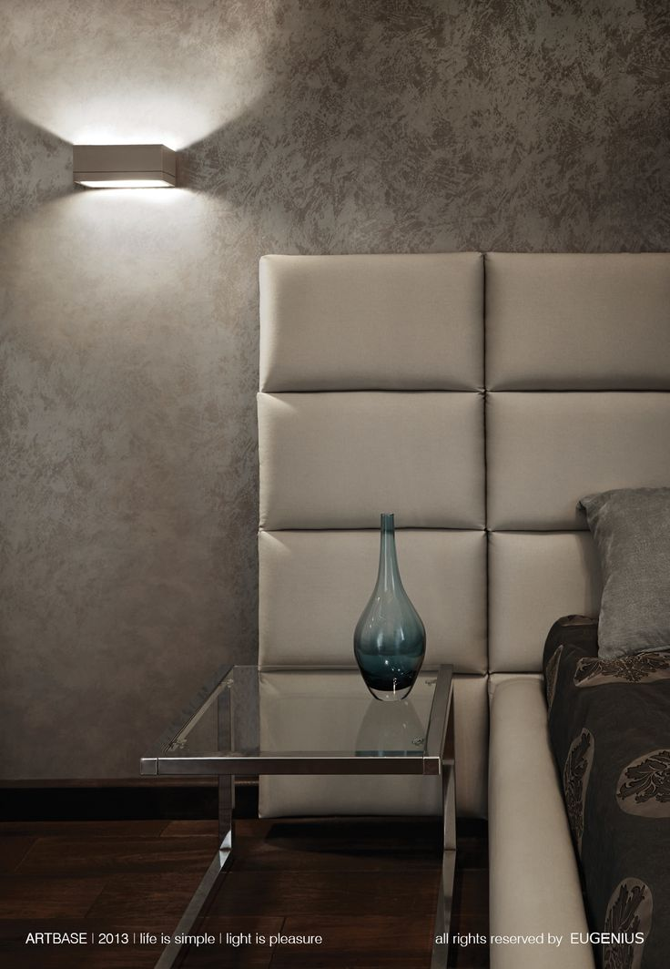EUGENIUS. modern lighting, architectural interior lamps for home. simple is beautiful! white sconce with soft light, elegant flows into the wall. it's elegant way to lightening bedroom.