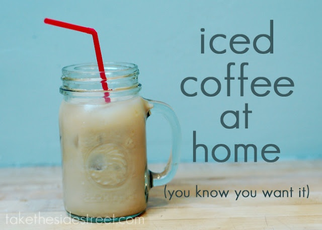 Take the Side Street: Easy Iced Coffee at HomeFood Ideas, Side Street, Food Glories, Ice Coffee, Brilliant Ideas, Easy Ice, Iced Coffee, Favorite Recipe, Coffe Drinkers