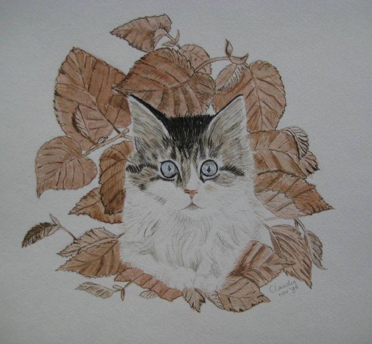 Aquarel kat #aquarel #aquarelle #watercolor #watercolourart #watercolour #watercolours #watercolour_gallery #watercolourpainting #watercolour_channel #kat #katze #chat #gatto #gato #cat #cats #catsagram #catsofinstagram #catloving #catlove #catlover #catlovers #catsaregreat #ilovecats #art_highlight #myart #arts #artist #autumn