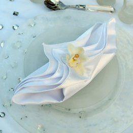 pliage serviette deco