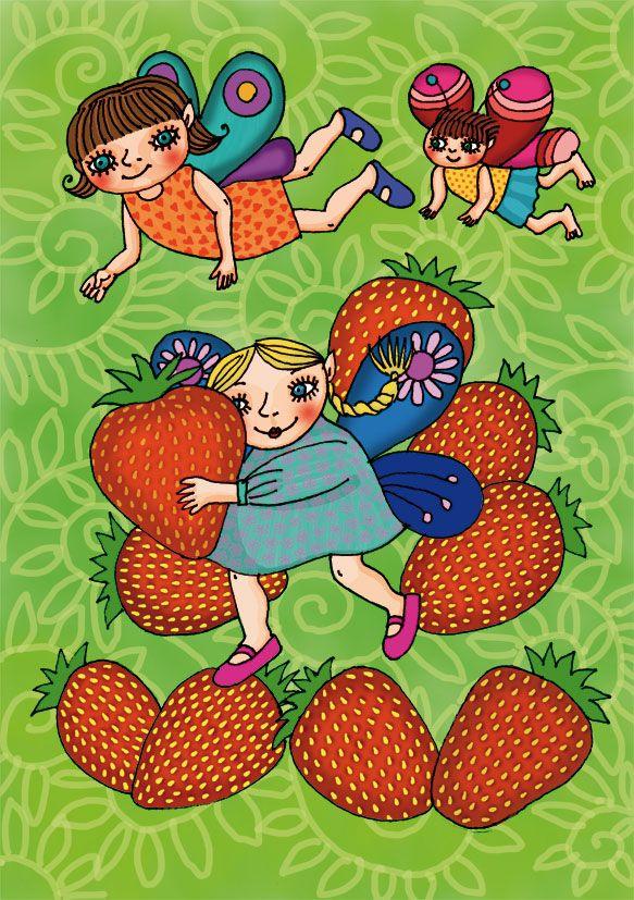 Tündérkék eperrel