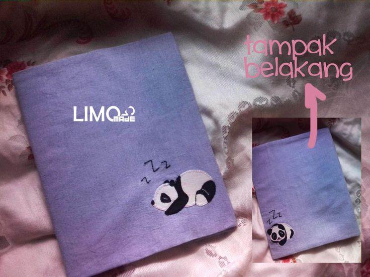Panda | 55K | bahan : kain belacu | check this limo-made.blogspot.com #handmade #coverbinder #sampulbinder #limitededition #semarang #indonesia #limomade