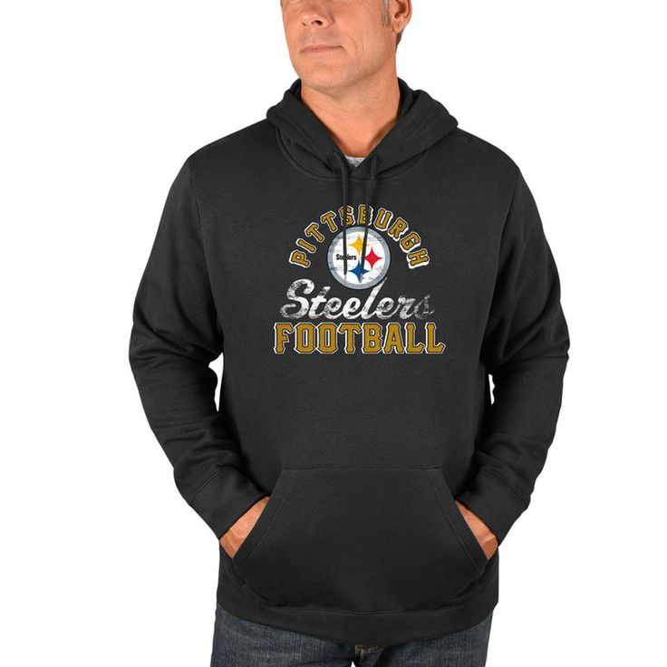 Pittsburgh Steelers Majestic Kick Return Pullover Hoodie - Heathered Charcoal