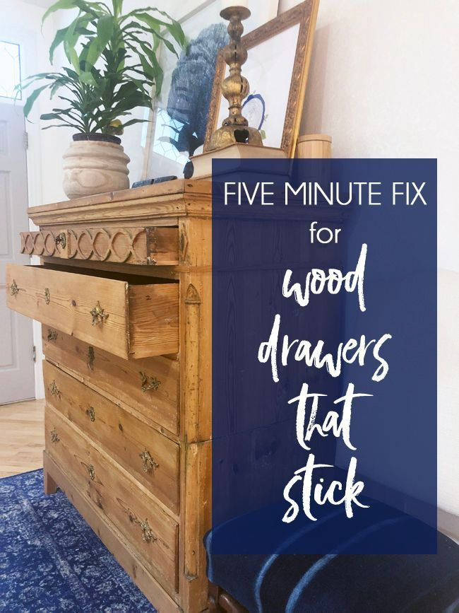 How To Make Old Wood Drawers Slide More Easily Wood Drawer Slides Wood Drawers How To Antique Wood