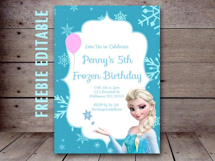 Free Editable Birthday Invitations Instant Download
