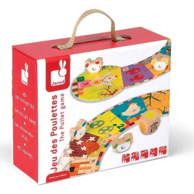 Janod - Chicken Suitcase Game and Puzzle