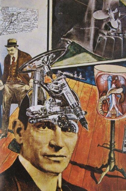 Raoul HAUSMANN. Tatlin lebt zu Hause, 1920. Photomontage et aquarelle, 41 x 28, Stockholm, Moderna Museet.