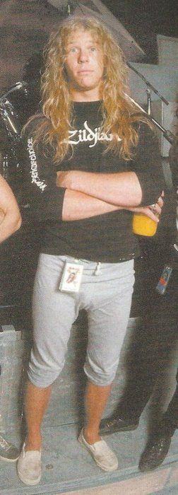 James Hetfield - I love older pix of James where the California boy comes through.