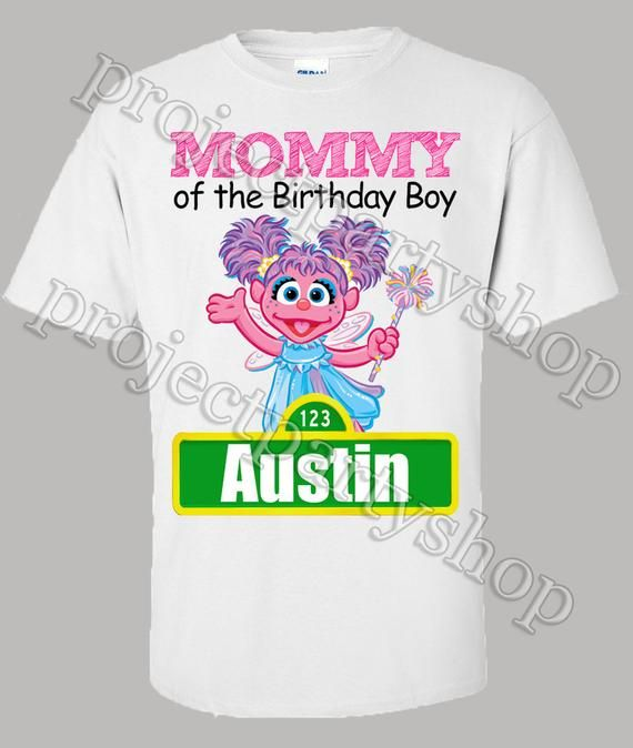 84847364 An adult Sesame Street birthday shirt to match the birthday girl/boy! I can