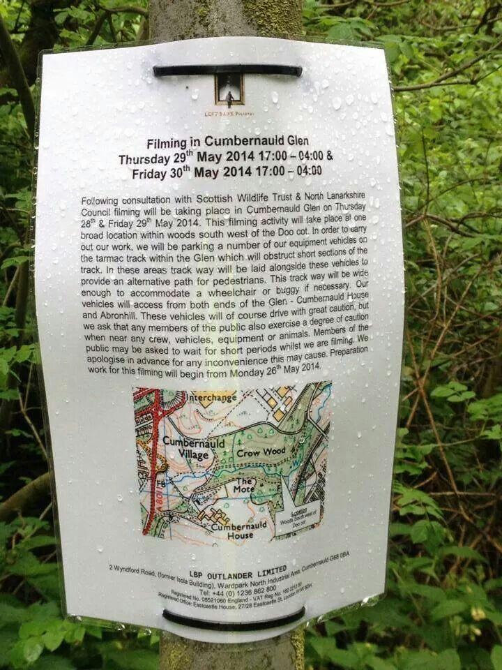 Outlander - Location filming in Cumbernauld