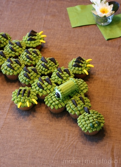 Alligator cupcakesFor jaden a.k.a, Gator <3