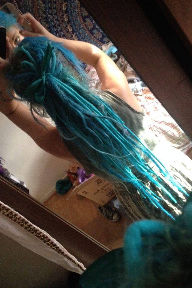 blue dreadlocks | Tumblr