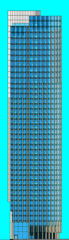 https://flic.kr/p/KDBbuK | South Bank Tower - West elevation diagram - Final drawing | Drawn on Microsoft Paint 2003.
