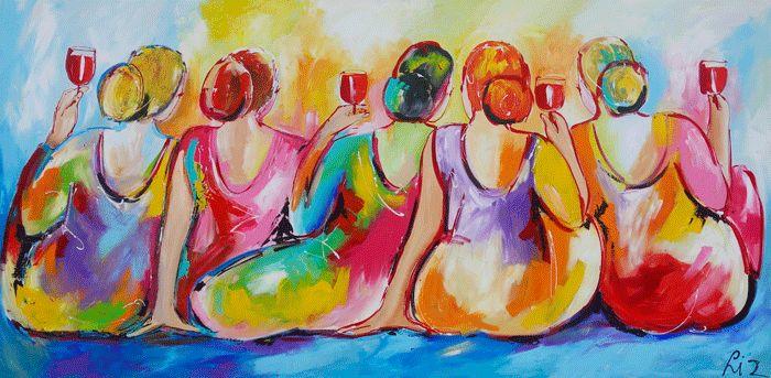 Gezellig - www.vrolijkschilderij.nl