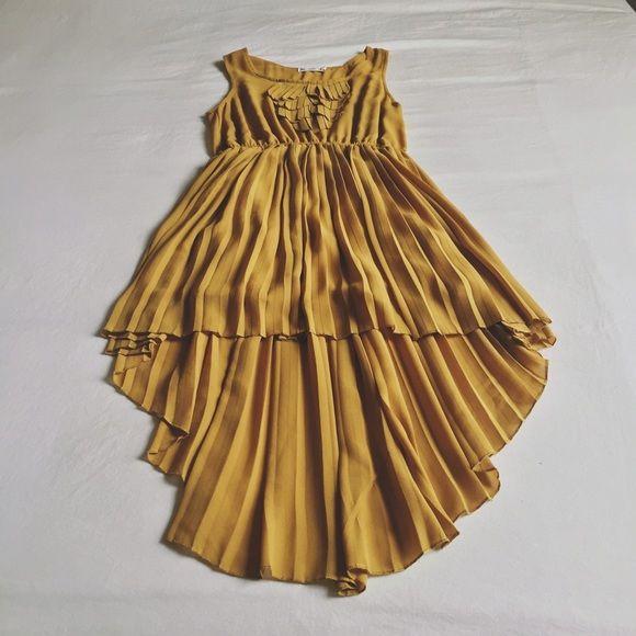 SURE Dresses - mustard yellow cocktail dress.