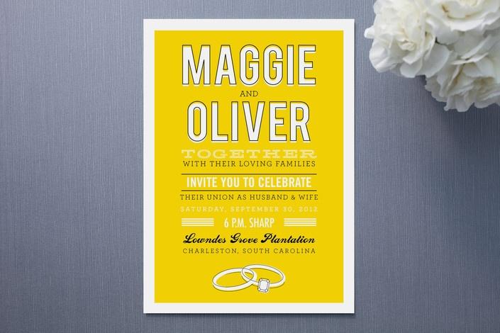 Sweet wedding invitations!