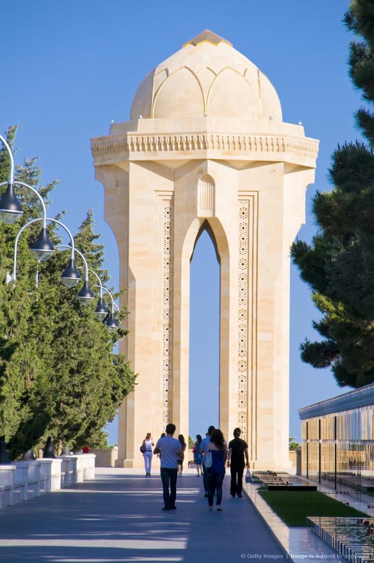 Sahidler Xiyabani, Memorial for the Bakuvian victims of the Red Army, Baku, Azerbaijan, Asia