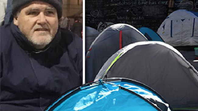 Martin Place tent city: Former Woolworths manager homeless in Sydney