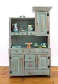 miniature handcrafted cupboard from Bubba's mini country cupboards