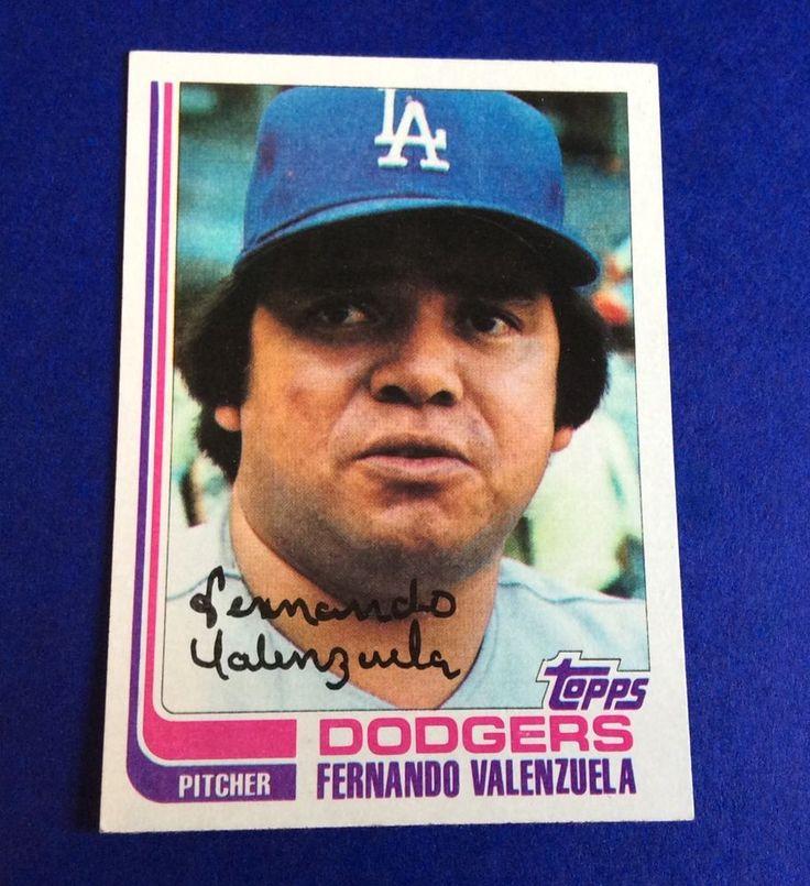 FERNANDO VALENZUELA Pitcher TOPPS Card 510 MLB DODGERS Baseball 1982 MEXICO Gift #LosAngelesDodgers
