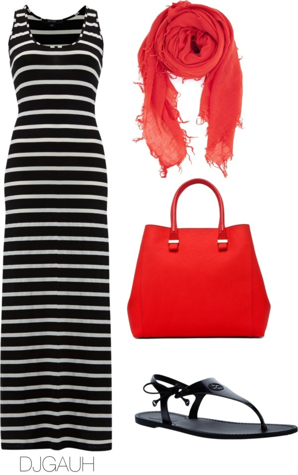 """Black White & Red"" by djgauh ❤ liked on ...All except the shoes 8-)"