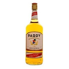Hubby brougt this home for me coming home from TDY - love! Paddy Irish Whiskey 80Pf 1 L
