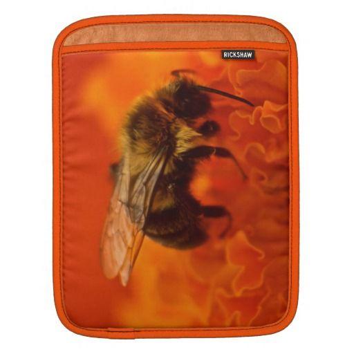 Bee on Orange Flower iPad Sleeves