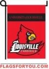 Louisville Cardinals Double Sided Garden Flag