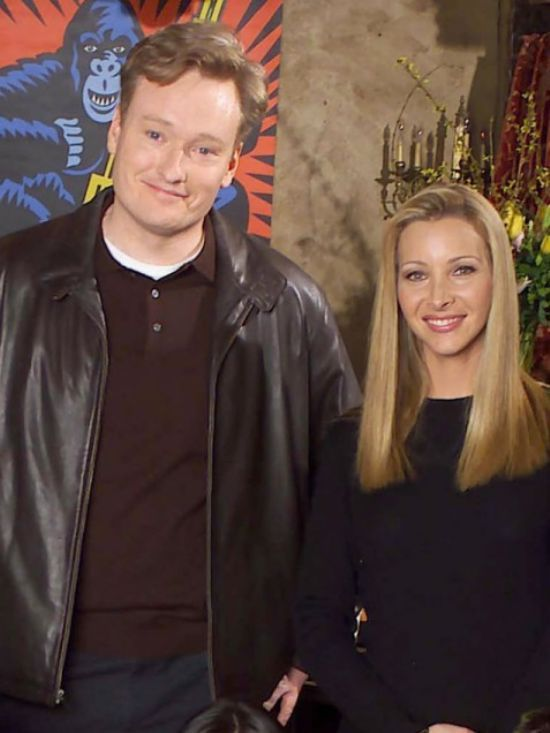 Conan O'Brien y Lisa Kudrow