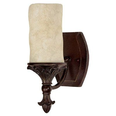 Capital Lighting 1041MBZ-125 Mediterranean Wall Sconce This Capital Lighting wall sconce is available in a bronze finish. It is available with rust scavo