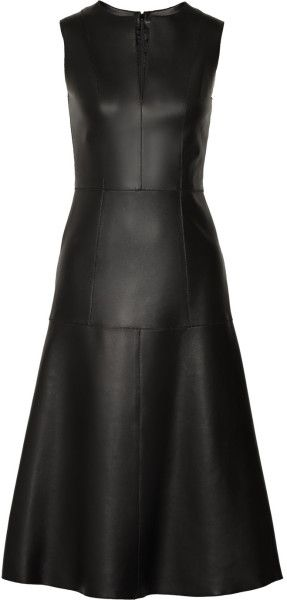 The Row ~ Filpen Paneled Leather Dress