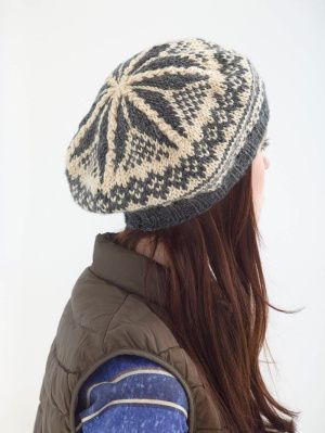 Image of Gretchen's Easy Tam.  Free pattern from Lion Brand's site.