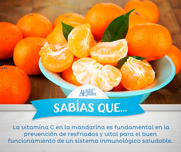 Mandarinas para la vitamina C