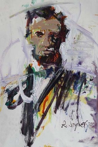Abraham Lincoln Painting, painting by artist Robert Joyner