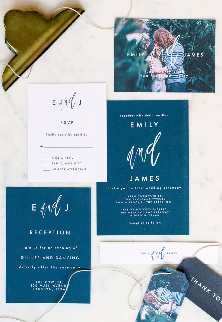 She and Him | Save the Date and Wedding Invitation Suite >> minimal design meets hand lettering