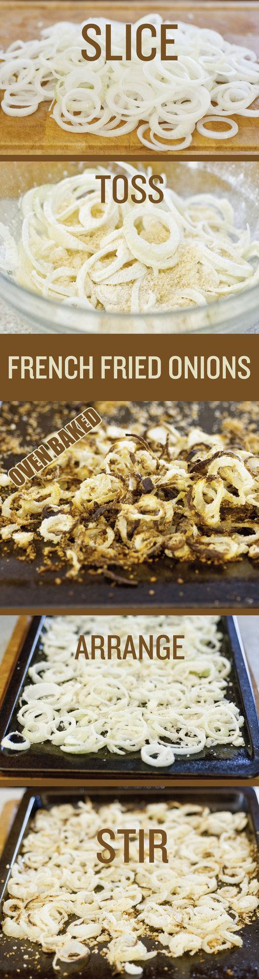 How to make french fried onions from scratch. Homemade french fried onions are healthier and infinitely tastier than those found in the grocery store.