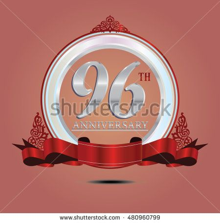 96th anniversary silver logo with indonesia pattern, soft ring color and red…